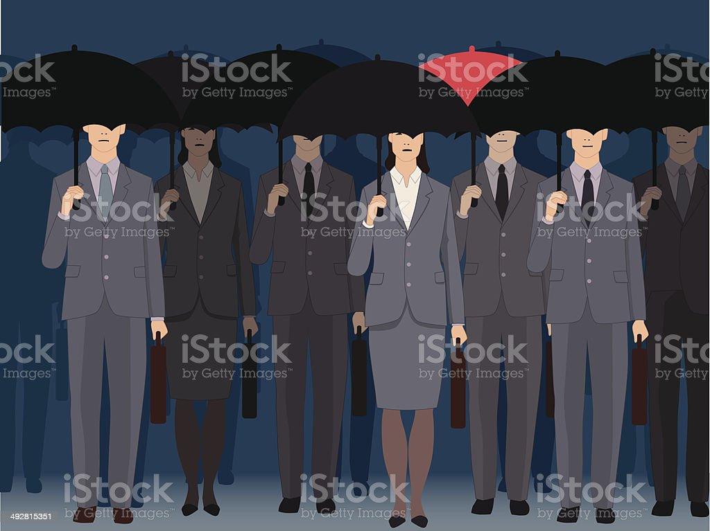 Non-conformism vector art illustration