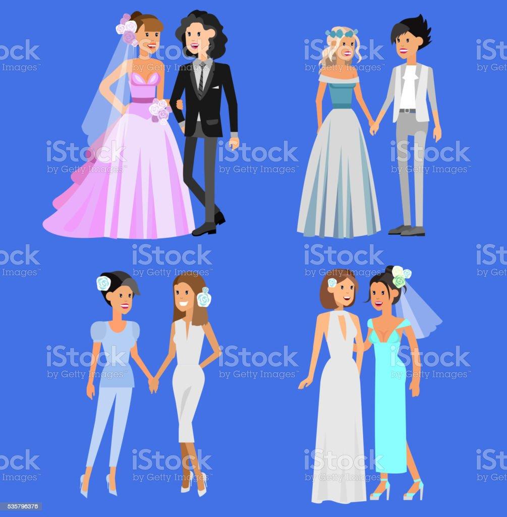 Niestandardowe Rodziny Szczęśliwy ładna ślub Gejów I Lesbijek