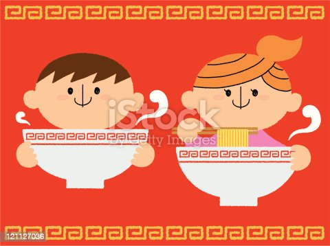 istock Noodle and children 121127036
