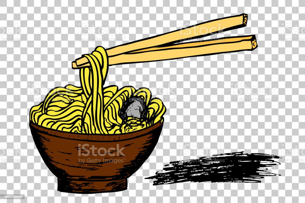 Noodle at Bowl  and Chopstick noodle at bowl and chopstick - stockowe grafiki wektorowe i więcej obrazów azja royalty-free