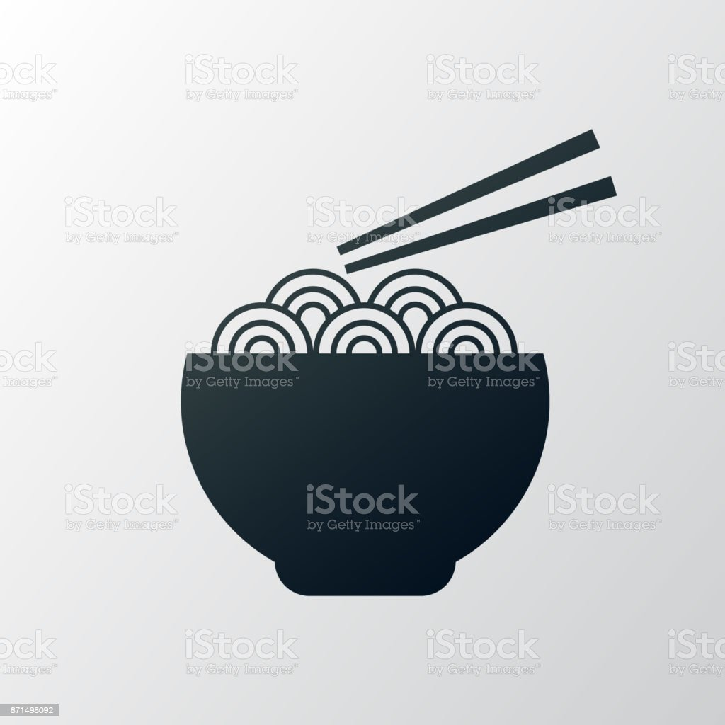 noodle bowl vector art illustration
