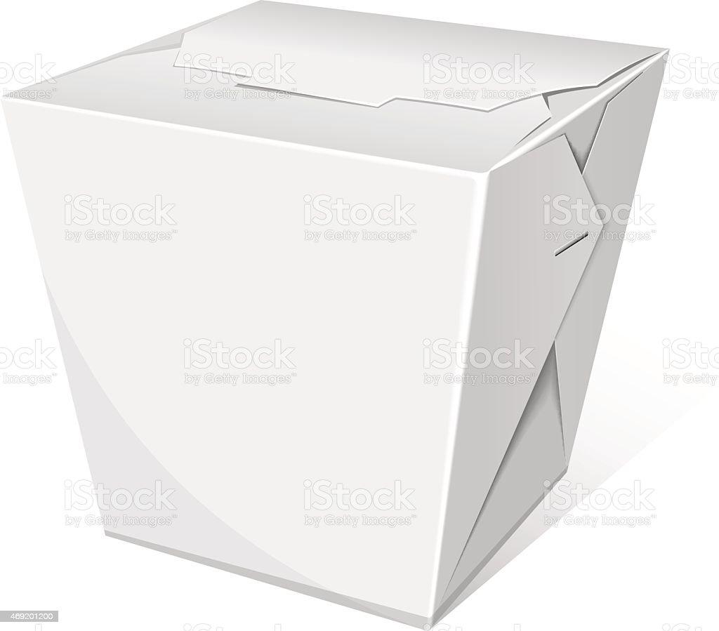 Caja de fideos - ilustración de arte vectorial