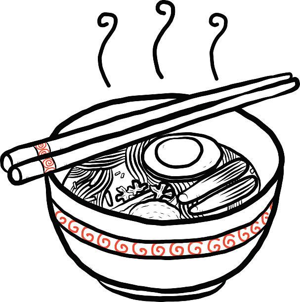 Royalty Free Ramen Bowl Clip Art Vector Images