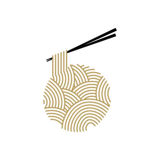 麺のロゴ - ラーメン点のイラスト素材/クリップアート素材/マンガ素材/アイコン素材