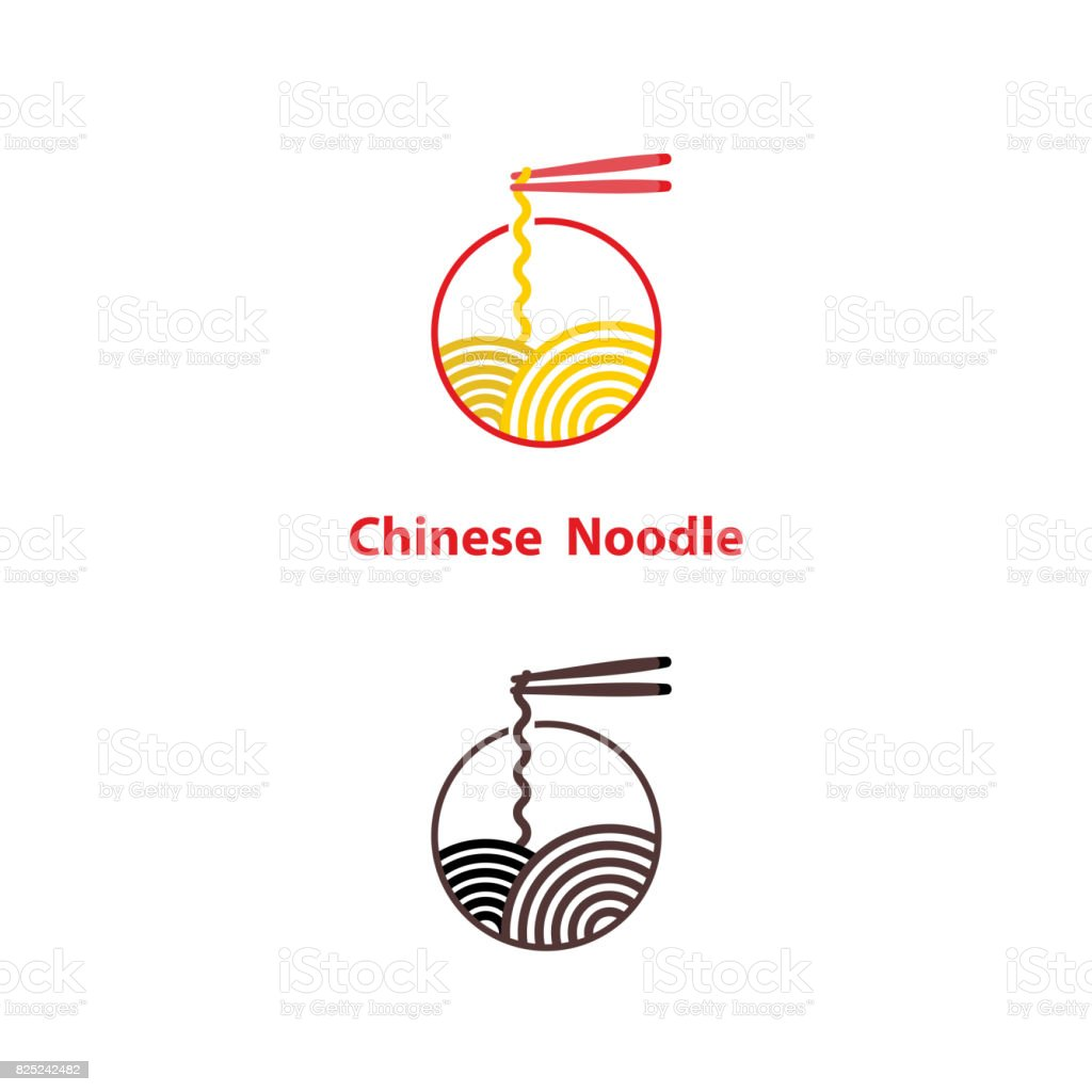 Noodle restaurant and food icon vector design.Chinese noodle icon design template.Taste of Asia icon template design.Vector Illustration. vector art illustration