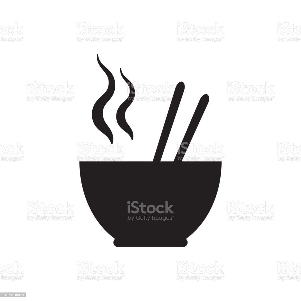 Noodle Soup Bowl With Chopsticks Vector Icon Food Concept For Graphic Design Logo Web Site Social Media Mobile App Ui Illustration Stock Illustration Download Image Now Istock