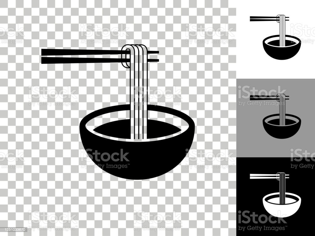 Noodle Soup Icon On Checkerboard Transparent Background Stock Illustration Download Image Now Istock