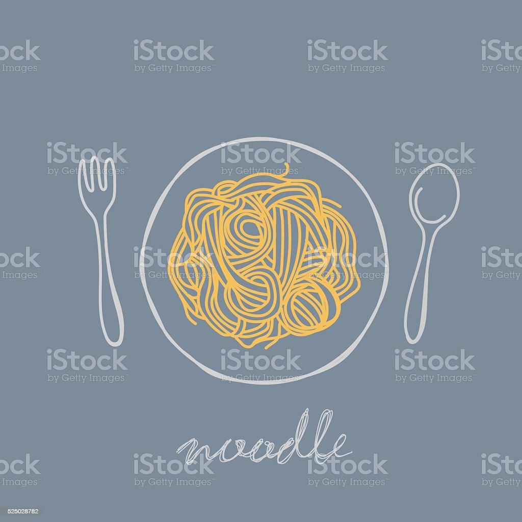 noodle - arte vettoriale royalty-free di Cena