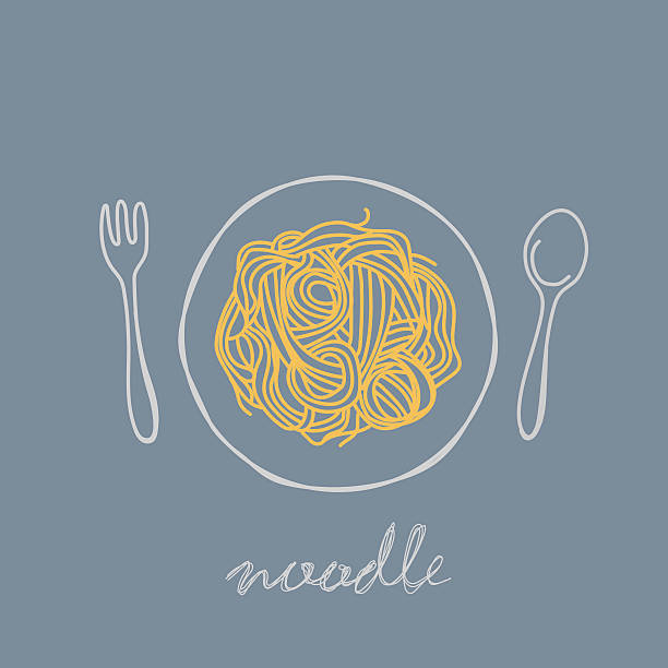 noodle - fine dining stock illustrations, clip art, cartoons, & icons
