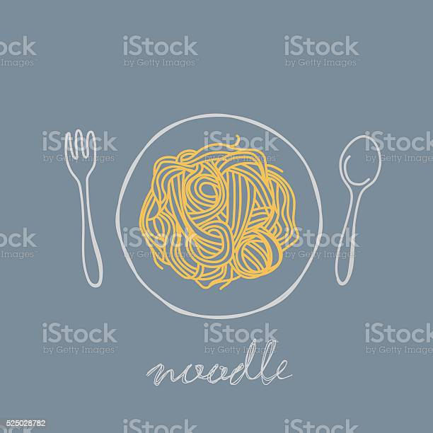 Noodle - Immagini vettoriali stock e altre immagini di Cena