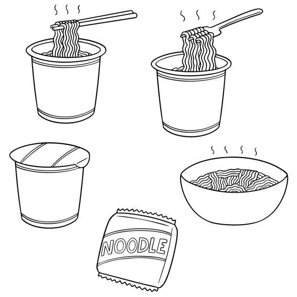 noodle – artystyczna grafika wektorowa