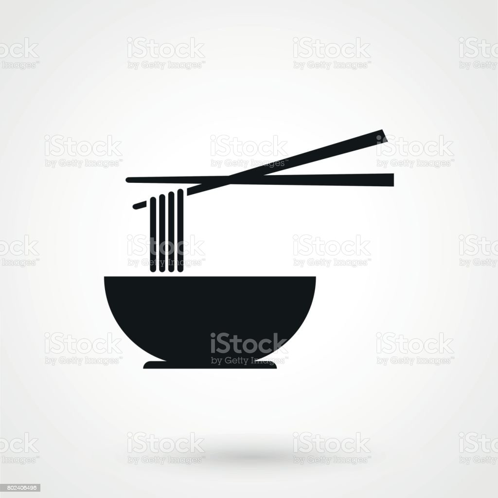 noodles icon in a simple style vector art illustration