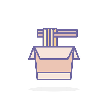 Noodles icon in filled outline style.