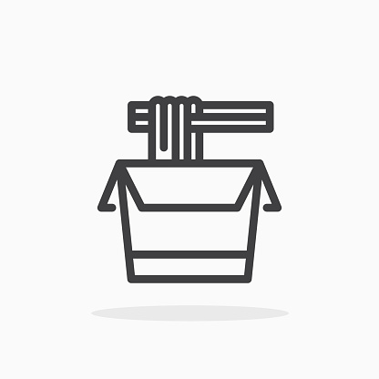 Noodles icon in line style.