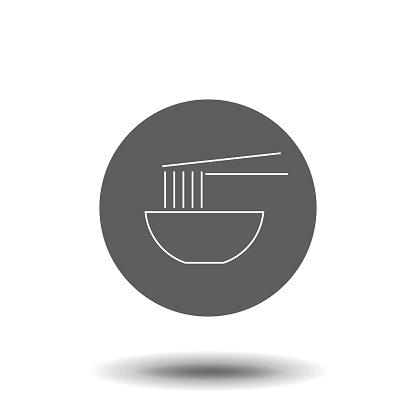 Noodles linear icon. Noodles concept stroke symbol design. Thin graphic elements vector illustration, outline pattern on a white background, eps 10.