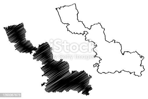istock Nord Department (France, French Republic, Hauts-de-France region) map vector illustration, scribble sketch Nord map 1263367673