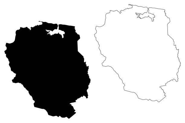 Nord-Est department (Republic of Haiti, Hayti, Hispaniola, Departments of Haiti) map vector illustration, scribble sketch Nord-Est map Nord-Est department (Republic of Haiti, Hayti, Hispaniola, Departments of Haiti) map vector illustration, scribble sketch Nord-Est map drawing of a haiti map stock illustrations