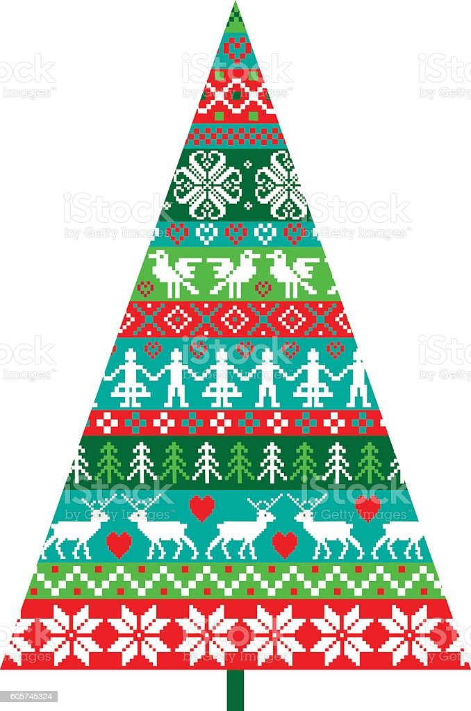 nordic christmas tree royalty free nordic christmas tree stock vector art more images - Nordic Christmas Tree Decorations