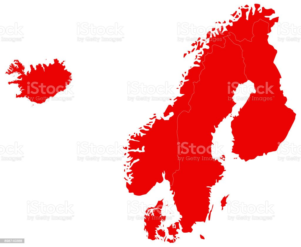 Nordic Europe Map.Nordic Countries Map Stock Vector Art More Images Of Cartography