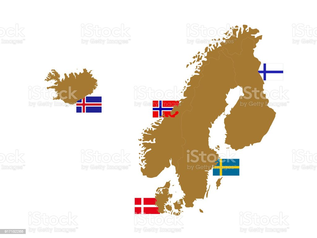 Nordic countries map with flags stock vector art more images of nordic countries map with flags royalty free nordic countries map with flags stock vector art gumiabroncs Gallery