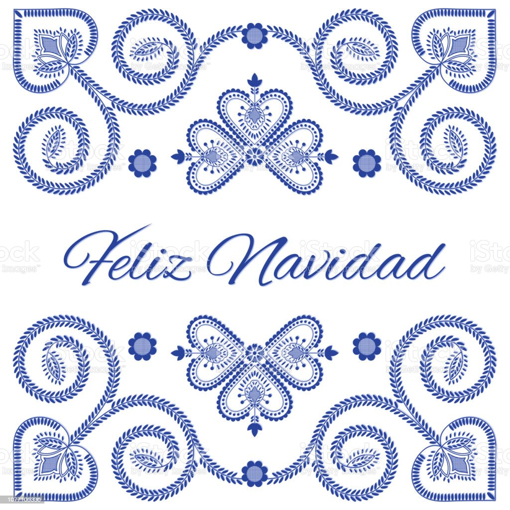 Royalty Free Christmas Card In Spanish Clip Art Vector Images