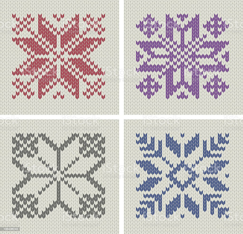 Nordic knitting star patterns royalty-free stock vector art