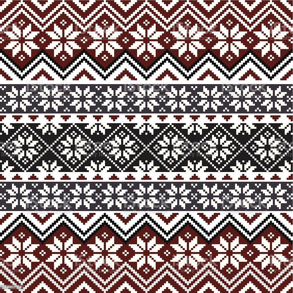 Nordic snowflake pattern vector art illustration