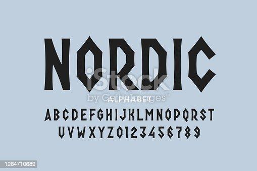 istock Nordic style font 1264710689