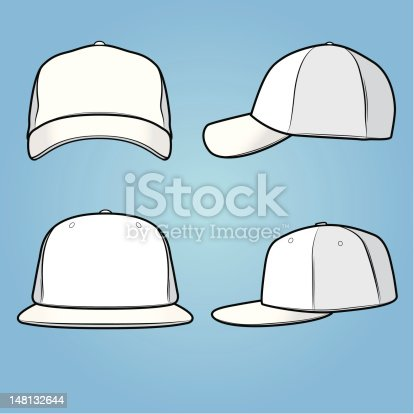 istock Normal and fitted caps 148132644