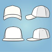 Front and side views of a normal+fitted cap/hat. Comes with high resolution .jpg, .png, AI2 version and EPS8.