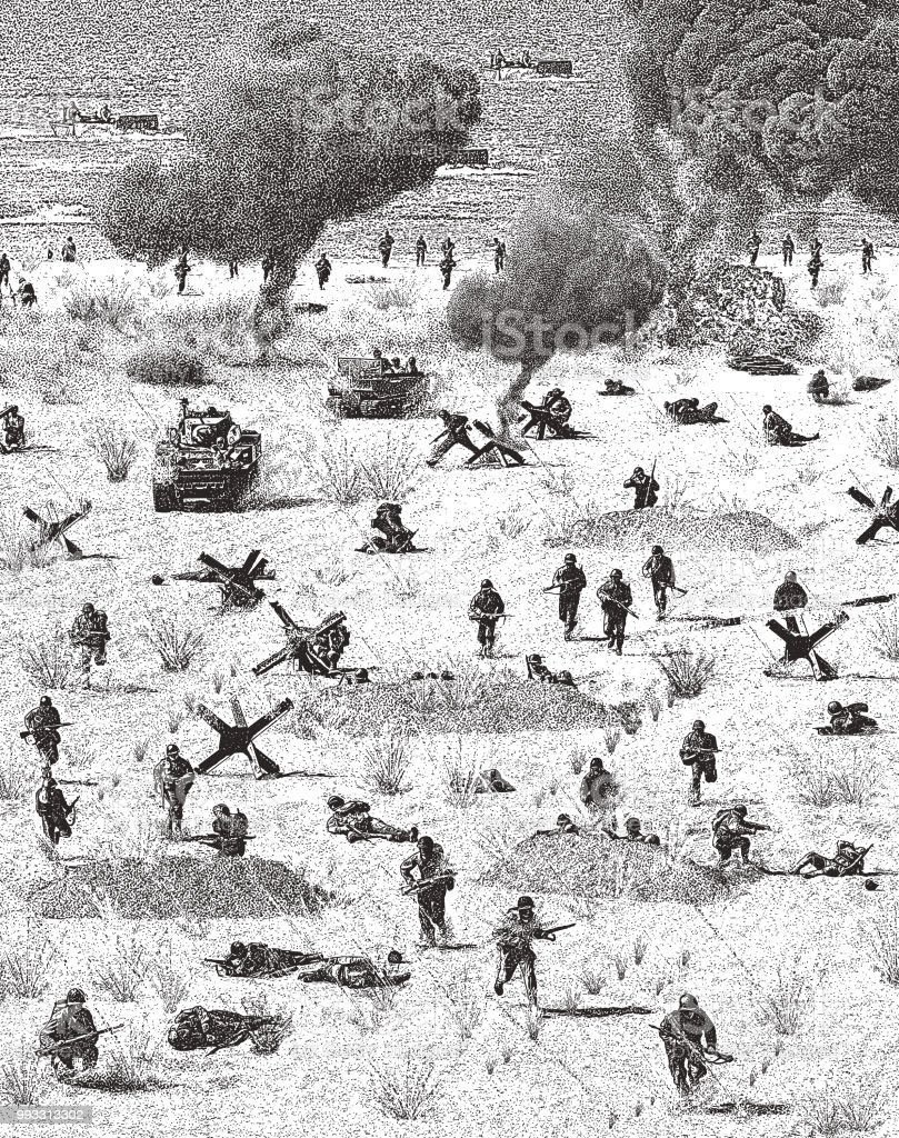 Ww2 Normandy Invasion On Omaha Beach - Immagini vettoriali
