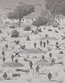 WW2 Normandy invasion on Omaha Beach