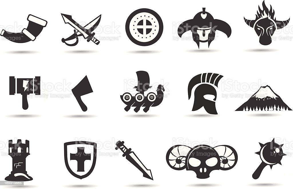 Norse Viking Icons royalty-free norse viking icons stock vector art & more images of british columbia