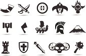 A series of progressional vector norse icons.  Includes transparent PNG, high resolution jpeg and EPS.