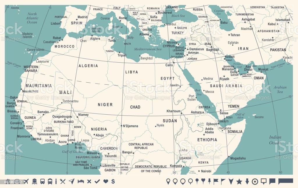 0021 - North Africa - Vintage Murena Inverted 10 vector art illustration