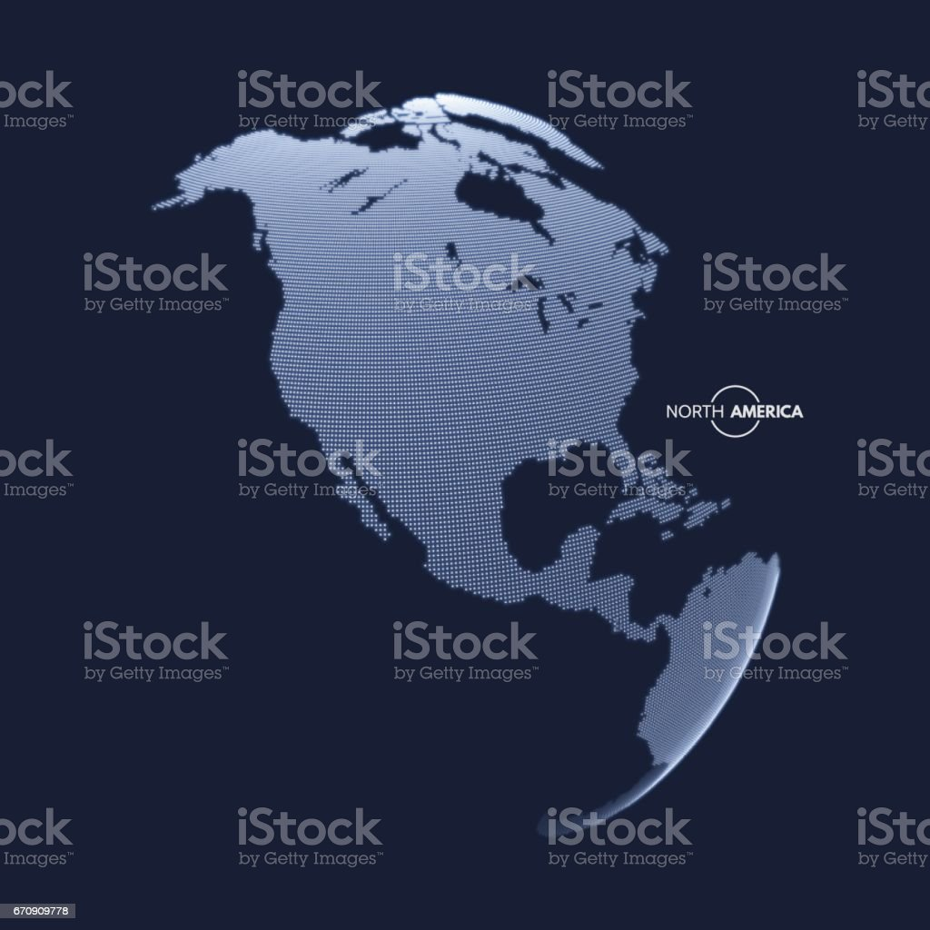 North America. Earth globe. Global business marketing concept. - Illustration vectorielle