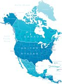 North America - highly detailed map