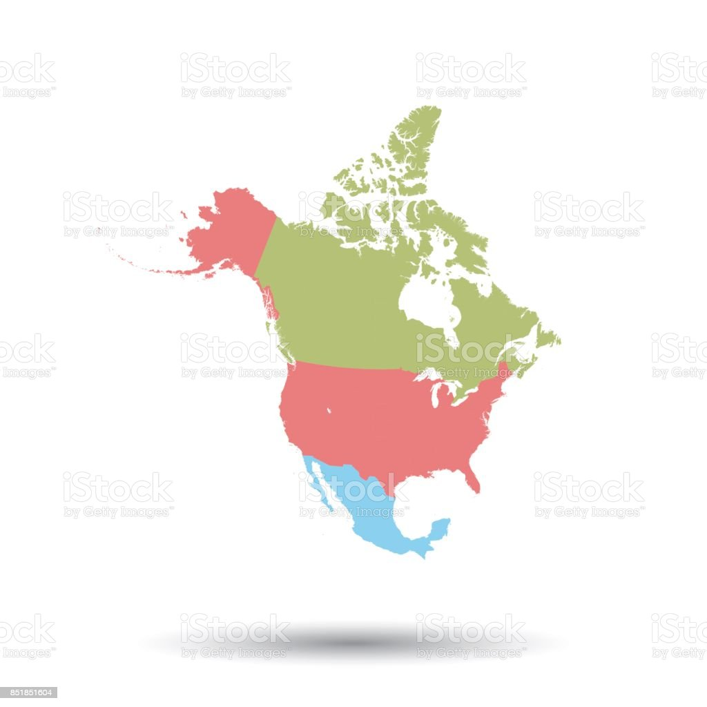 north america map icon flat vector illustration north america sign rh istockphoto com north america vector map free download north america vector map with states and provinces