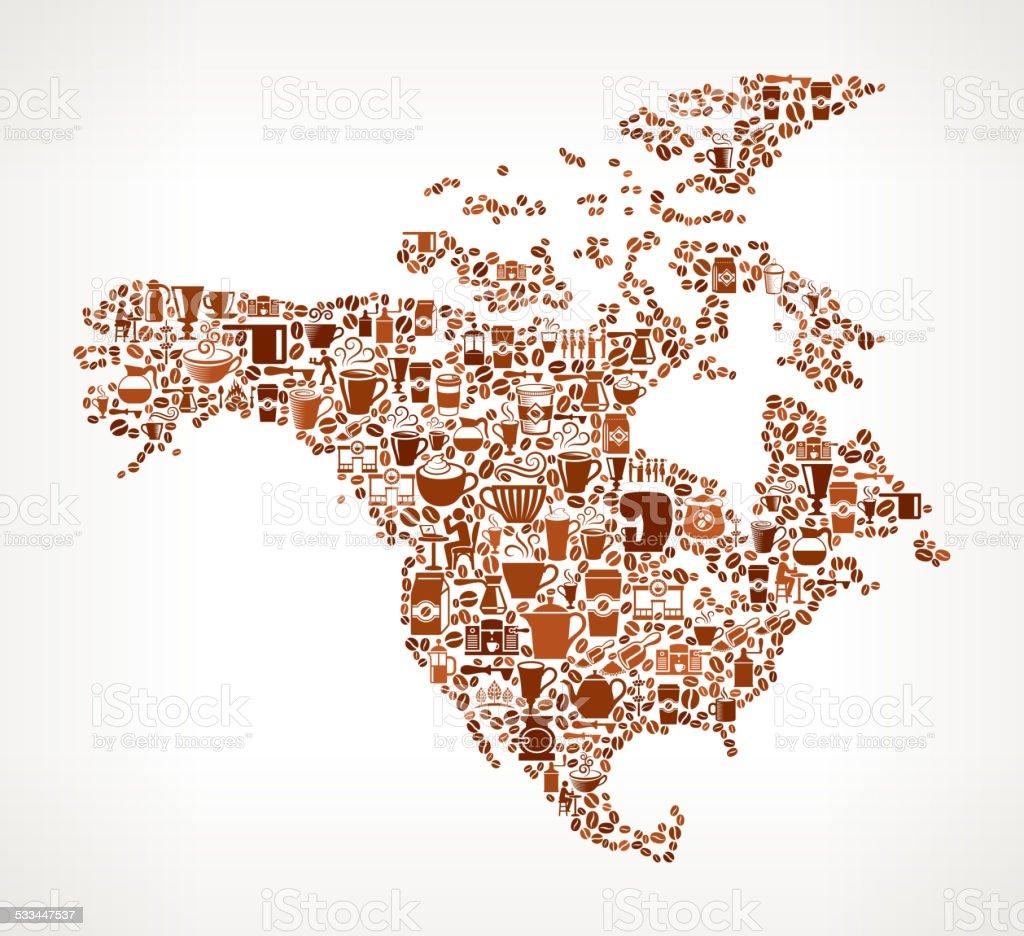 Amrica Del Norte Caf Bar Canad EEUU Mapa