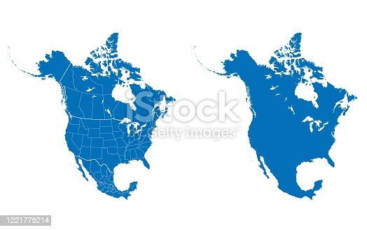vector of North America map