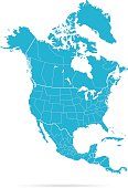 istock North America Map 524902544