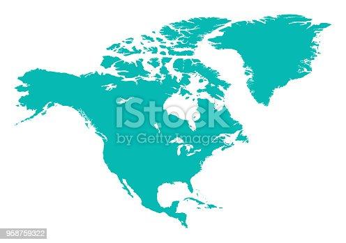 istock North America Map 958759322