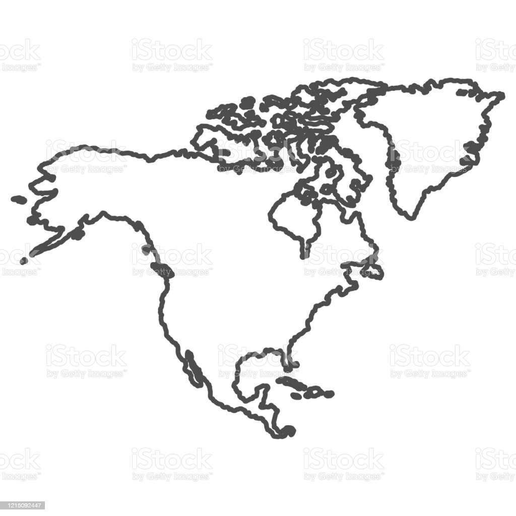 Picture of: North America Outline World Map Stock Illustration Download Image Now Istock