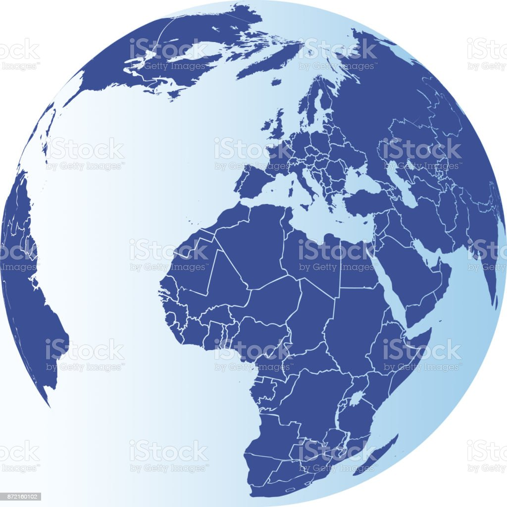 north america south america europe africa and asia globe royalty free north