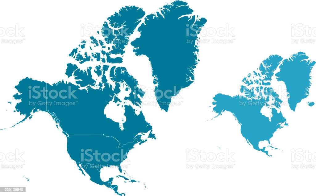 North America vector art illustration