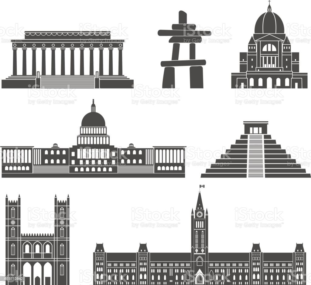 North America royalty-free north america stock vector art & more images of architecture