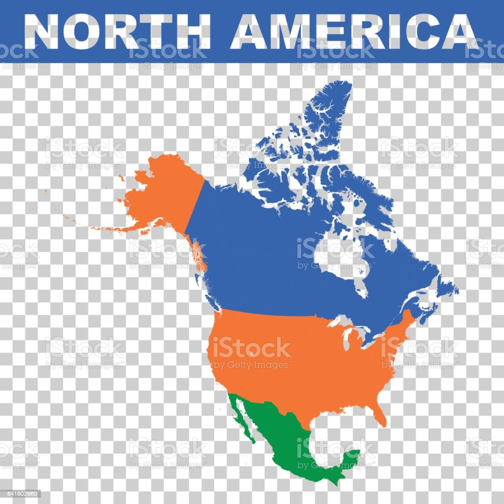 Free Vector Map Of North America.North America Vector Map Stock Vector Art More Images Of Abstract
