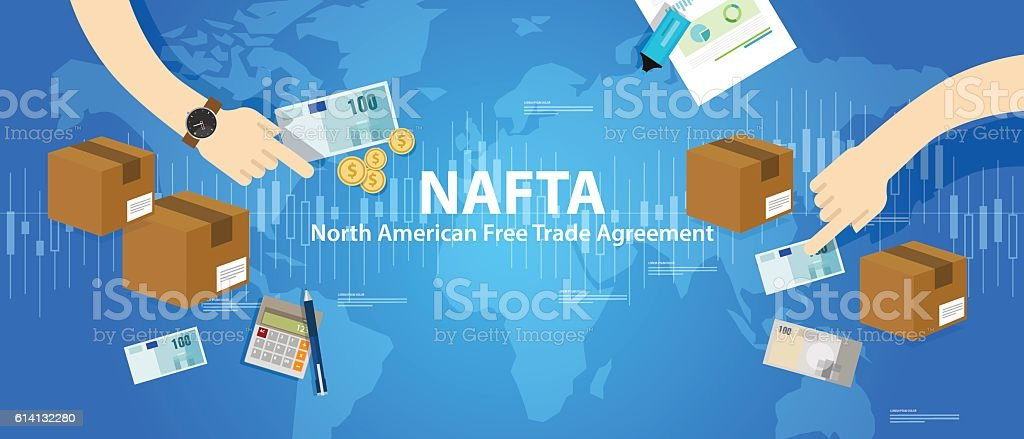 Nafta North American Free Trade Agreement Stock Vector Art More
