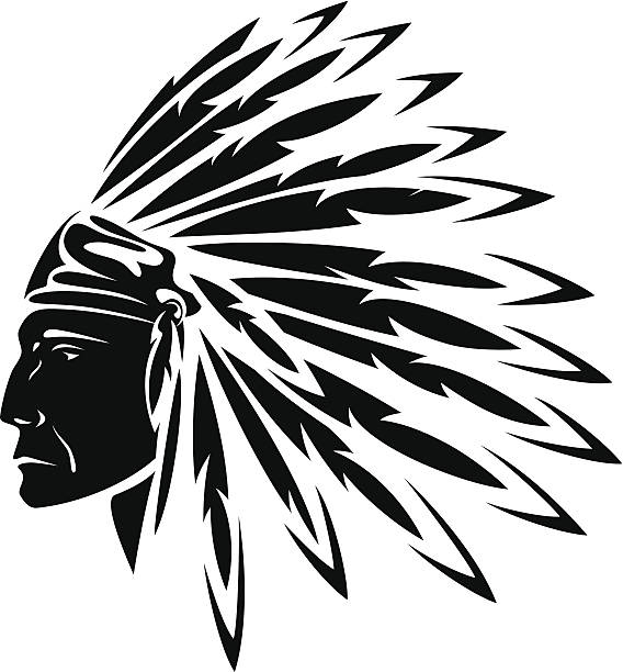 north american indian - kopfschmuck stock-grafiken, -clipart, -cartoons und -symbole