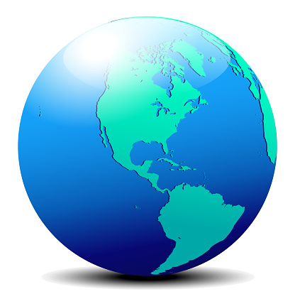 North and South America Global World